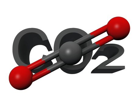 dioxide: molecule  of carbon dioxide Stock Photo