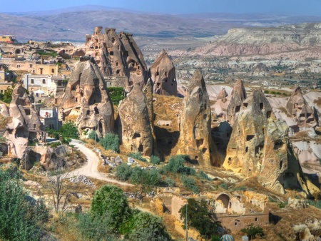 the fairy chimneys in Cappadocia