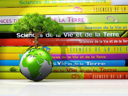 science text: life  science and earth to school