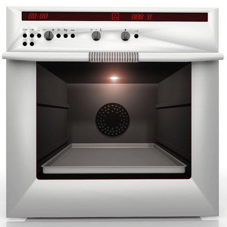 electric stove: inside a great convection oven Stock Photo