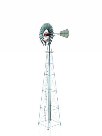 watermanagement: water windmill on a white background