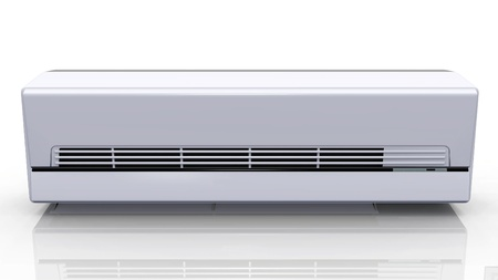 the air conditioner on a white background photo