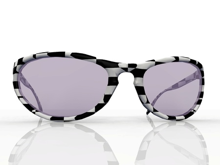 accesories: sunglasses  on a white background