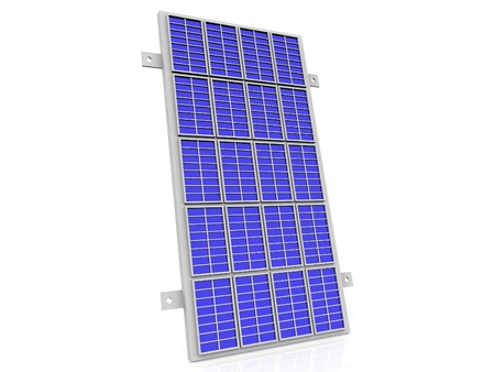 the solar cell panel on  white background photo