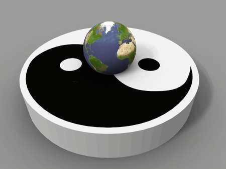 the earth and the ying yang Stock Photo - 10760364