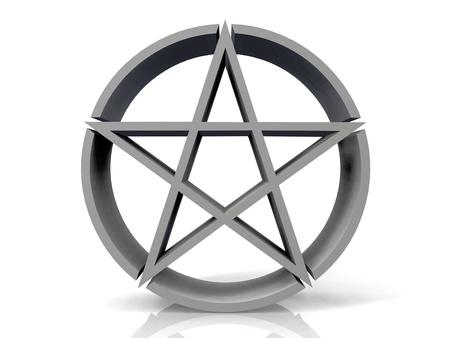 etoile juive: l'�toile juive de logo sur un fond blanc Banque d'images