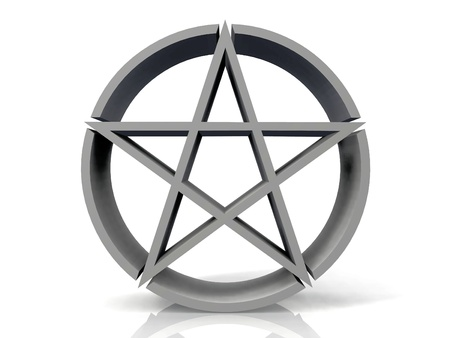 judaica: the logo Jewish star on a white background Stock Photo