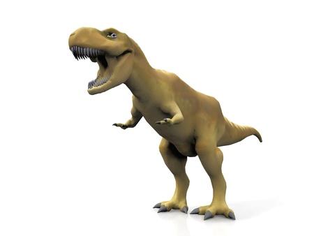 assail: Tyrannosaurus  on a white background Stock Photo