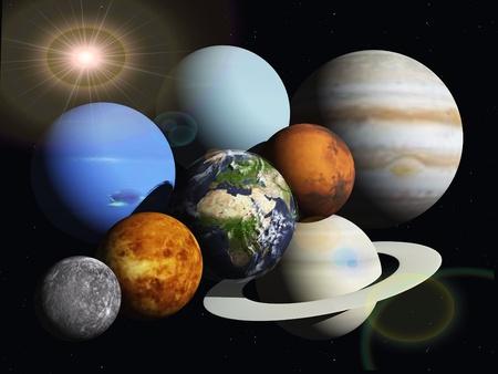 観察: 太陽系の惑星 写真素材
