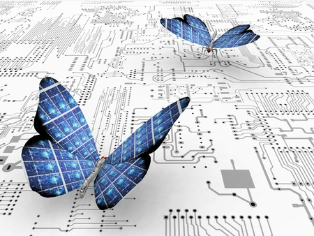 electronic components: the beautiful butterfly with wings