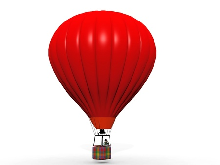 hot air balloon on a white background