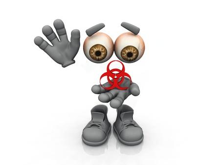 biohazard symbol on a white background   photo