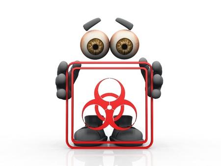 biohazard symbol on a white background Stock Photo - 10889453