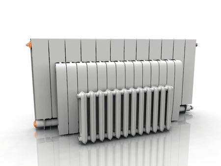 the radiator on a white background