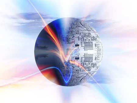 バブル回路基板 写真素材