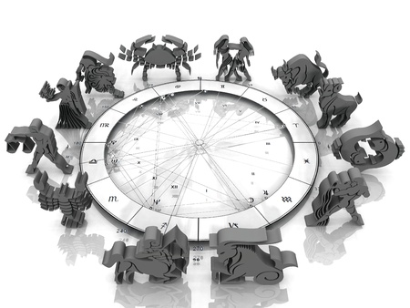 signs of the horoscope on a white background Standard-Bild