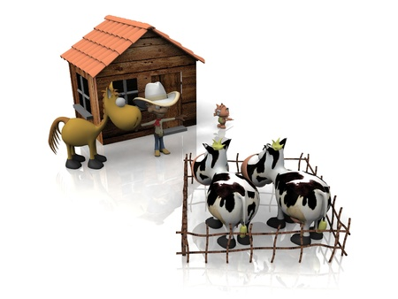 breeding cows and the cowboy photo