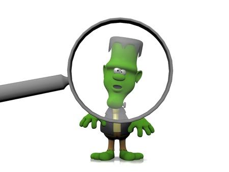 clipart frankenstein: frankenstein and the magnifying glass