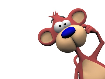 monkey on a white background  photo
