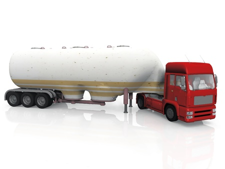 tanker truck on a white background photo