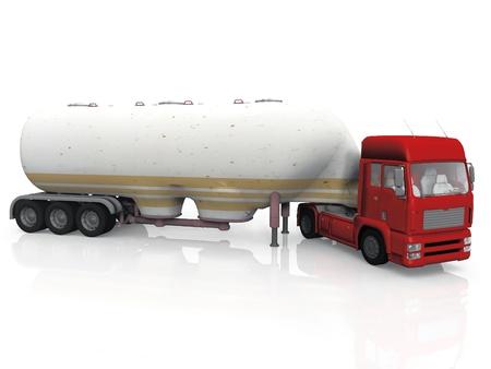 Tankwagen auf weißem Hintergrund
