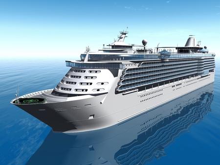 cruise ship on the sea