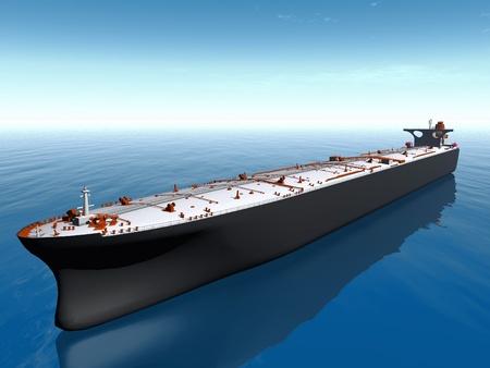 海の石油タンカー 写真素材