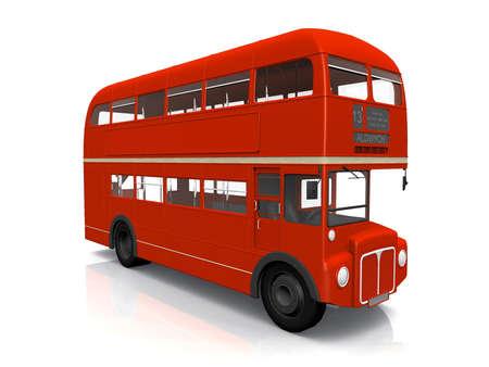 bus anglais: Red Bus anglais sur fond blanc