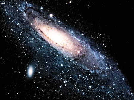 andromeda: a spiral galaxy in the universe
