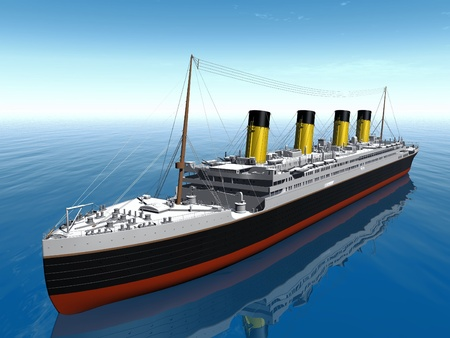 the Titanic on the sea photo