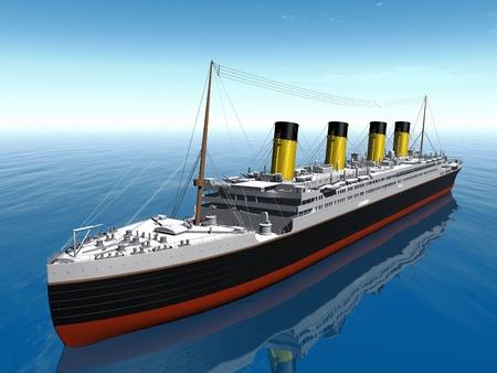 titanic: the Titanic on the sea Stock Photo