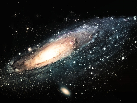 outer space: the spiral galaxy