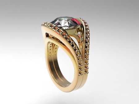gold and diamond ring photo