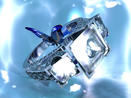 the diamond ring and the Butterfly photo