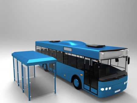the bus and the bus stop