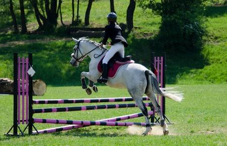 jumping event Standard-Bild