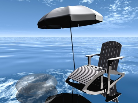 Relaxation  at sea photo