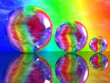 rose in a bubble photo