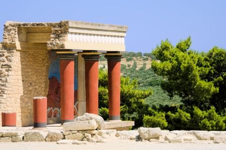 the palace of Knossos in Creta Standard-Bild