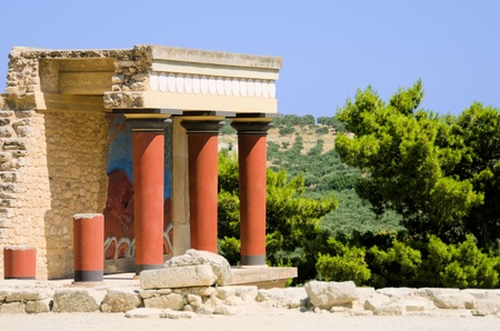 the palace of Knossos in Creta Stock Photo
