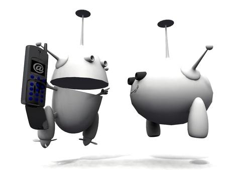 the robots Stock Photo - 13048610