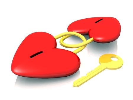 shackled: the key of the heart Stock Photo