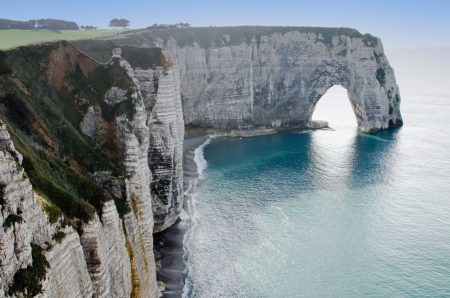 the cliffs of Etretat Stock Photo - 13620056