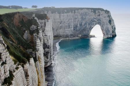 the cliffs of Etretat Stock Photo - 13620056