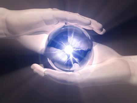 手の中に千里眼のボール