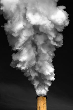煙突・煙 写真素材