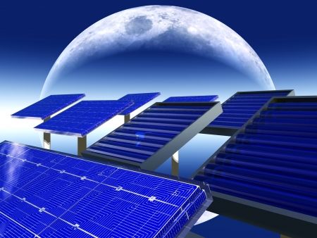 surviving: solar panels and moon