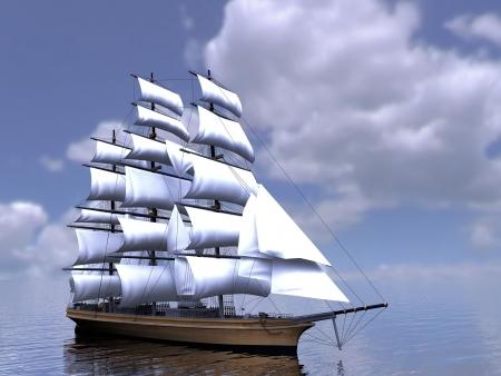 3 本マストの帆船