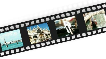 Venice on film strip