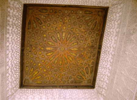 wooden ceiling of the Alhambra